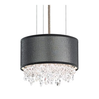 Schonbek Eclyptix Pendant in Stainless Steel and Swarovski Elements Crystal with White Shade EC1306N-401S3