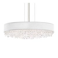 Schonbek Eclyptix Pendant in Stainless Steel and Spectra Crystal with Black Shade EC1324N-401A2