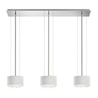 Schonbek Eclyptix Pendant in Stainless Steel and Spectra Crystal with Silver Shade EC3306N-401A1
