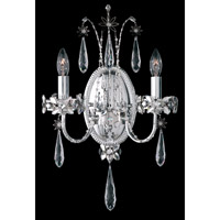 Schonbek Ekaterina 2 Light Wall Sconce in Stainless Steel and Crystal Swarovski Elements Trim EK6502N-401S