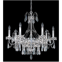 Schonbek Ekaterina 7 Light Chandelier in Stainless Steel and Crystal Swarovski Elements Trim EK6507N-401S