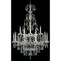 Schonbek Ekaterina 15 Light Chandelier in Antique Silver and Crystal Swarovski Elements Trim EK6515N-48S