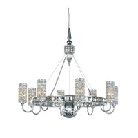 Schonbek Elements 8 Light Chandelier in Stainless Steel and Alabaster Swarovski Elements Trim EL2218ALA