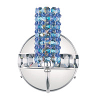 Schonbek Elements 1 Light Wall Sconce in Stainless Steel and Sapphire Swarovski Elements Trim ELW0506SAP photo thumbnail