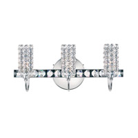 Schonbek Elements 3 Light Wall Sconce in Stainless Steel and Clear Spectra Crystal Trim ELW1606A