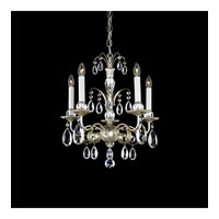Schonbek Emperio 5 Light Chandelier in Antique Silver and Clear Heritage Handcut Trim EM1205N-48H