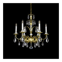 Schonbek Emperio 6 Light Chandelier in Heirloom Gold and Clear Heritage Handcut Trim EM1206N-22H