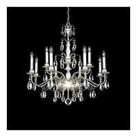 Schonbek Emperio 12 Light Chandelier in Antique Silver and Clear Heritage Handcut Trim EM1212N-48H