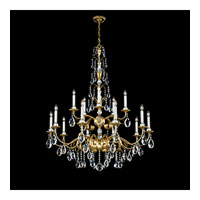 Schonbek Emperio 15 Light Chandelier in French Gold and Clear Spectra Crystal Trim EM1215N-26A