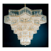Schonbek Equinoxe 31 Light Chandelier in Gold and Clear Gemcut Trim 2716-20