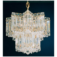 Schonbek Equinoxe 5 Light Chandelier in Gold and Clear Gemcut Trim 2710-20