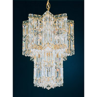 Schonbek Equinoxe 9 Light Chandelier in Gold and Clear Gemcut Trim 2711-20