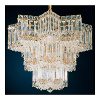 Schonbek Equinoxe 7 Light Chandelier in Gold and Clear Gemcut Trim 2712-20
