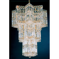 Schonbek Equinoxe 13 Light Chandelier in Gold and Clear Gemcut Trim 2713-20 photo thumbnail