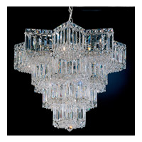 Schonbek Equinoxe 15 Light Chandelier in Silver and Clear Gemcut Trim 2714-40 photo thumbnail