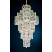 Schonbek Equinoxe 35 Light Chandelier in Gold and Clear Gemcut Trim 2725-20