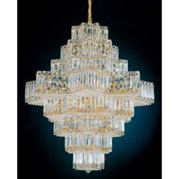 Schonbek Equinoxe 45 Light Chandelier in Gold and Clear Gemcut Trim 2726-20
