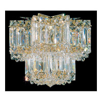 Schonbek Equinoxe 5 Light Flush Mount in Gold and Clear Gemcut Trim 2731-20