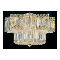 Schonbek Equinoxe 9 Light Flush Mount in Gold and Clear Gemcut Trim 2732-20