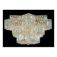 Schonbek Equinoxe 13 Light Flush Mount in Gold and Clear Gemcut Trim 2733-20