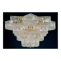 Schonbek Equinoxe 29 Light Flush Mount in Gold and Clear Gemcut Trim 2734-20