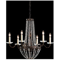 Schonbek ER1016N-06A Early American 6 Light White Chandelier Ceiling Light in Clear Spectra, Cast White