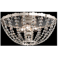 Schonbek ER1211N-48S Early American 4 Light Antique Silver Semi-Flush Mount Ceiling Light in Clear Swarovski, Cast Antique Silver