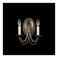 Schonbek Early American 2 Light Wall Sconce in Heirloom Bronze and Clear Legacy Collection Trim 5144-76