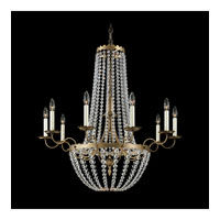 Schonbek Early American 10 Light Chandelier in Etruscan Gold and Clear Legacy Collection Trim 5148-23