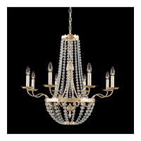 Schonbek Early American 8 Light Chandelier in Silvergild and Clear Legacy Collection Trim 5149-91