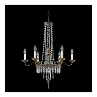 Schonbek Early American 6 Light Chandelier in Bronze Umber and Clear Legacy Collection Trim 5155-75