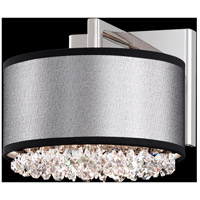 Eclyptix 2 Light 8 inch Stainless Steel Wall Sconce Wall Light in Clear Swarovski, Black