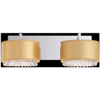 Schonbek Eclyptix 4 Light Wall Sconce in Stainless Steel and Heritage Crystal EC0326N-401H4