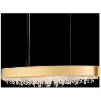 Eclyptix 10 Light 11 inch Stainless Steel Pendant Ceiling Light in Clear Swarovski, Gold