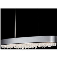 Eclyptix 12 Light 15 inch Stainless Steel Pendant Ceiling Light in Clear Swarovski, Black