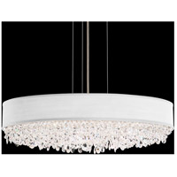 Schonbek EC1324N-401A3 Eclyptix 7 Light 24 inch Stainless Steel Pendant Ceiling Light in White, Clear Spectra