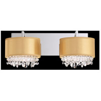 Eclyptix 4 Light 8 inch Stainless Steel Wall Sconce Wall Light in Clear Swarovski, Gold