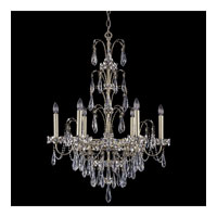 Schonbek Ekaterina 6 Light Chandelier in Heirloom Silver and Crystal Swarovski Elements Trim EK6506N-44S