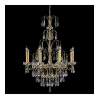Schonbek Ekaterina 8 Light Chandelier in Heirloom Gold and Crystal Swarovski Elements Trim EK6508N-22S