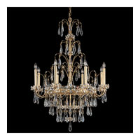 Schonbek Ekaterina 8 Light Chandelier in French Gold and Crystal Swarovski Elements Trim EK6508N-26S