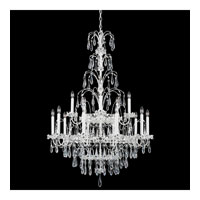 Schonbek Ekaterina 15 Light Chandelier in White and Crystal Swarovski Elements Trim EK6515N-36S