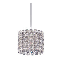Schonbek Elements 1 Light Pendant in Stainless Steel and Silver Shade Swarovski Elements Trim EL0403SH