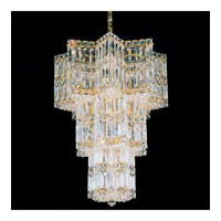 Schonbek Equinoxe 13 Light Chandelier in Gold and Clear Gemcut Trim 2713-20