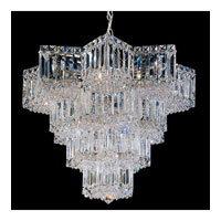 Schonbek Equinoxe 15 Light Chandelier in Silver and Clear Gemcut Trim 2714-40