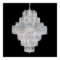 Schonbek Equinoxe 21 Light Chandelier in Silver and Clear Gemcut Trim 2724-40