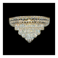 Schonbek Excelsior 3 Light Wall Sconce in Special Gold and Clear Gemcut Trim 2400 photo thumbnail