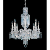 Fairfax 8 Light 110V Chandelier in Silver with Clear Heritage Crystal photo thumbnail