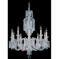 Schonbek Fairfax 10 Light Chandelier in Silver and Clear Heritage Handcut Trim 5033