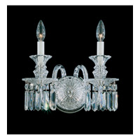 Schonbek Fairfax 2 Light Wall Sconce in Silver and Clear Heritage Handcut Trim 5036