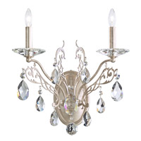 Filigrae 2 Light 10 inch Antique Silver Wall Sconce Wall Light in Clear Heritage